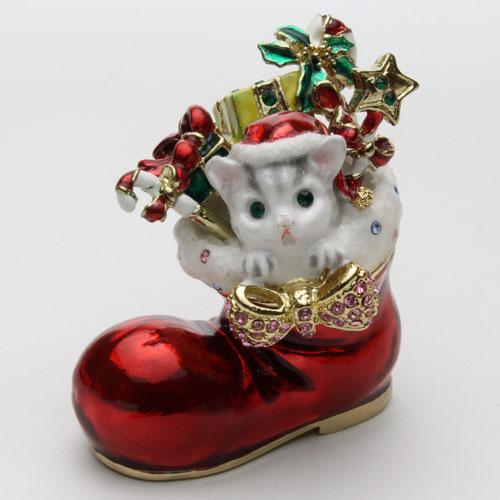 ◇ねこのブーツ◇【ミニジュエリーケース】 宝石箱 (CAT IN BOOTS)ジュエリーボックス
