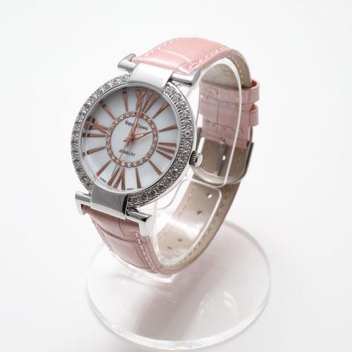 【送料無料・消費税込】新登場【Royal Crown ITALY DESIGN】ピンク ベルト ジュエリー 時計 【smtb-k】 ◆新登場◆ピンクベルトウォッチ!プレゼントにオススメ!