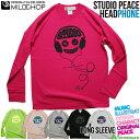 ショッピングヘッドホン HEADPHONE studio peace / オリジナルロングTシャツ/ネット限定長袖Tシャツ【cloth】MILDCHOP
