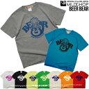 BEER★BEAR/オリジナル半袖Tシャツ/くま/ビール/オリジ