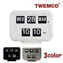 RoomClip商品情報 - TWEMCO トゥエンコ デジタルカレンダークロック パタパタ時計 全3色 置き・掛け兼用 置時計 QD-35