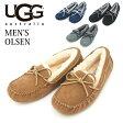 UGG アグ メンズ シープスキン スウェード スリッポン モカシン OLSEN オルセン 1003390 全4色 UGG メンズ ローファー デッキシューズ ドライビングシューズ シープスキン  Men's Slipper Collection メンズスリッパーコレクション