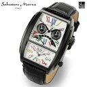 SalvatoreMarraサルバトーレマーラ腕時計メンズデュアルタイムSM11123-IPBKWH
