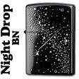 05P07Feb16 zippo (ジッポーライター) スワロフスキー入 ナイトドロップ ブラックニッケル 2ND-BN2 (zippoライター ジッポーライター ジッポライター) (ジッポー ジッポ ライター)