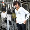 【メール便送料無料】 Tシャツ・カットソー メンズ CONVERSE 天竺スウェット&グラジャン長袖ロングTシャツ