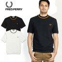 FRED PERRY/フレッドペリーCREW NECK PIQUE T-SHIRT クルーネック鹿の子 半袖Tシャツ M5