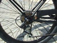 【11月中旬入荷予約】【レビュー23件!】【マットブラック!!】【ギヤ付き!!】【当店はすぐ乗れる完成車で発送いたします!!】人気の小さめ24インチ♠fivecard-bikeファイブカードビーチクルーザー変速ROSETATOOローズタトゥー
