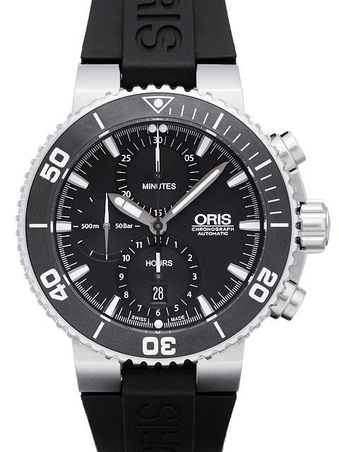 オリス アクイス クロノグラフ / Ref.774 7655 4154R【新品】【腕時計】【メンズ】【送料無料】