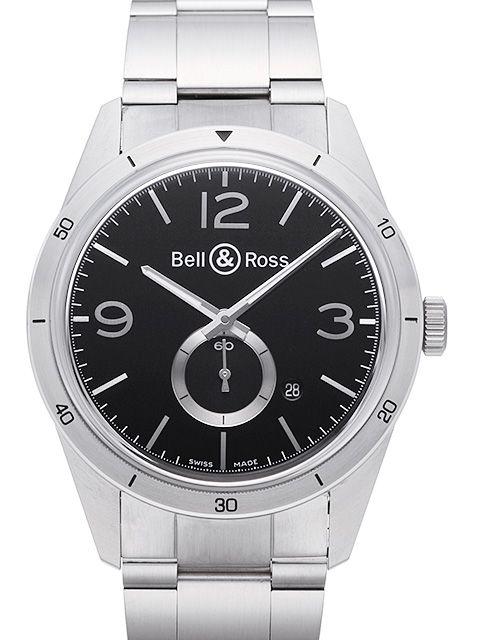 ベル&ロス ヴィンテージ BR123 ブラック&シルバー / Ref.BRV123-BS-ST/SST 【新品】【腕時計】【メンズ】【送料無料】