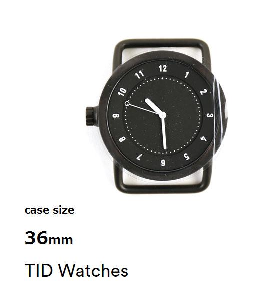 ティッドウォッチズ(TID Watches)腕時計 文字盤 ブラック(36mm) No.1 Collection・113944-3701601【メンズ】【レディース】 【送料無料】【国内正規品】とちぎ(とちぎ)