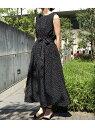 ショッピングノースリーブ [Rakuten Fashion]【SALE/30%OFF】【WEB限定】ドットプリントノースリーブワンピース ViS ビス ワンピース ワンピースその他 ブラック ホワイト【RBA_E】【送料無料】