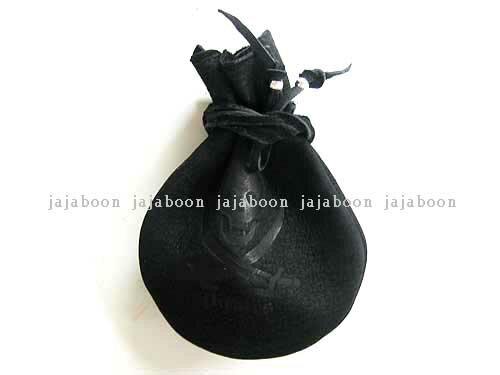 JAJABOON 【メール便OK★】パイレーツ財宝袋 コインケース 黒本革(レザー)製