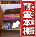 本棚 書棚 地震対策 奥行き17センチ 天井つっぱり書棚 本棚 愛書家専用 上段BOX用棚板 (取り付け用金属ダボ付属します) 【RCP】【10P03Dec16】