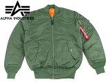 ALPHA INDUSTRIES アルファ MA-1 フライトジャケット インポート セージ (MA1 IMPORT ミリタリー アメカジ)