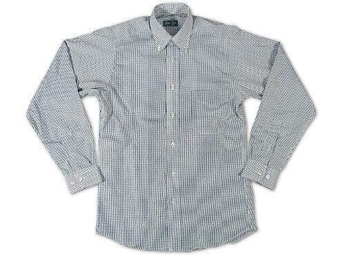 ギットマン ブラザーズ Gitman Bros. ギンガムチェック ボタンダウンシャツ ブラック/ホワイト (米国製 GINGHAM CHECK B.D. SHIRT 長袖)