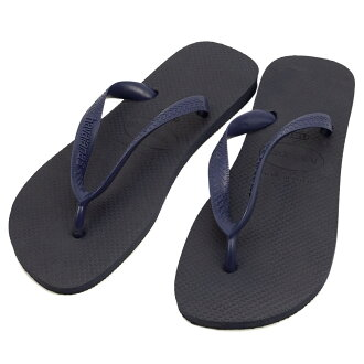 Navy-blue the Hawaiian announcers havaianas beach sandal top (the TOP B sun)