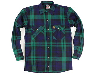 Big Bill BIGBILL 121 heavyweight flannel shirt Blackwatch ( BRAWNY FLANNEL HEAVY WEIGHT SHIRT work shirt )
