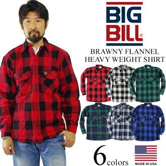 Big Bill BIGBILL 121 heavyweight flannel shirt Blackwatch ( BRAWNY FLANNEL HEAVY WEIGHT SHIRT work shirt )