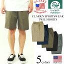 クラークス スポーツウエア(エリックハンター) ツイルイージーショーツ BIG SIZE (大きいサイズ アメリカ製 米国製 チノショーツ CLARK'S ERICK HUNTER)