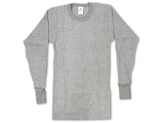 インデラミルズ INDERA MILLS LONG JOHNS thermal underwear long sleeve T shirt grey (under THERMALS l/s CREW wear)
