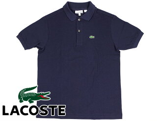 Lacoste LACOSTE L1812 boys short sleeve polo shirt Navy Blue Kanoko (Classic Pique Polo 166)