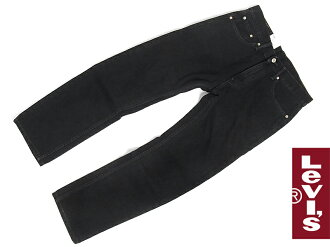 Levi's LEVI's 505-0260 closure straight jeans black ( after dyed USA line BLACK )