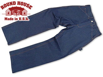 Roundhouse ROUND HOUSE # 101 5 Pocket denim painter pants MADE IN USA (CLASSIC 5-POCKET WORK DUNGAREE raw denim)