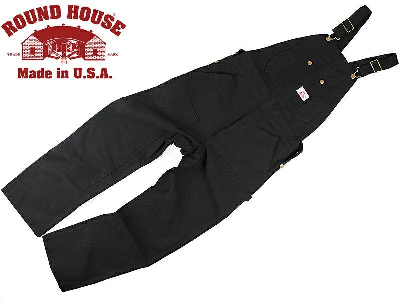 ■バンダナプレゼント■ラウンドハウス ROUND HOUSE #383 ヘビーデューティー ブラックダック オーバーオール MADE IN USA   (米国製 )