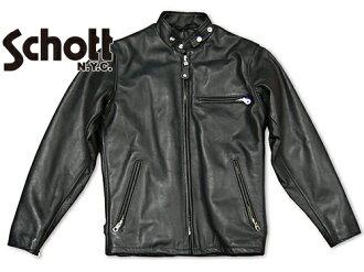 Shot SCHOTT 141 シングルライ dozen black MADE IN USA (SINGLE RIDERS BLACK leather jacket)
