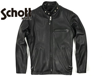 Shot SCHOTT 641 old シングルライ dozen black MADE IN USA (SINGLE RIDERS BLACK leather jacket)