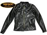 バンソン VANSON ENF シングルライダース ブラック MADE IN USA ■レビューを書いてミンクオイルプレゼント■ (エンフィールド 襟付 レザージャケット BLACK)