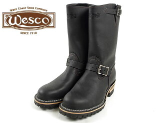 "Wesco #7700100 Wesco Engineer Boots boss 11 ""black スティールトゥ ( BOSS 11"" Steel toe )"
