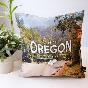【JAMオリジナルアイテムプレゼント中】JAM デザイナーズクッション punster cushion _ Oregon ふわふわお洒落 クッション インテリア雑貨 デザイナーズ デザイン ダジャレ ユニーク