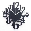 Squirrel Time 掛け時計 壁掛け時計 デザイナーズ 北欧 おしゃれ モノトーン ブラック ホワイト