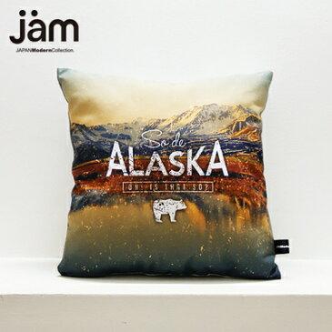 【JAMオリジナルアイテムプレゼント中】JAM デザイナーズクッション punster cushion _ Alaska ふわふわお洒落 クッション インテリア雑貨 デザイナーズ デザイン ダジャレ ユニーク