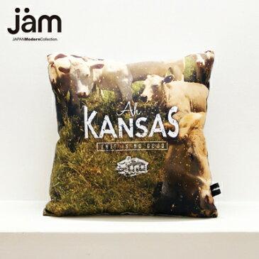 【JAMオリジナルアイテムプレゼント中】JAM デザイナーズクッション punster cushion _ Kansas ふわふわお洒落 クッション インテリア雑貨 デザイナーズ デザイン ダジャレ ユニーク