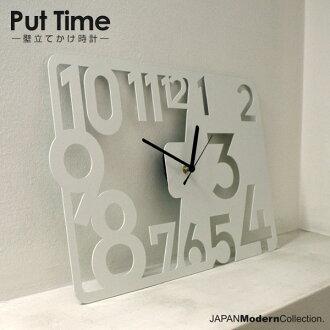把時間 — — 靠在牆上 — — 設計師牆鐘原 | 掛鐘 | 時鐘 | 時鐘 | 家居用品 | 鋼 | 設計 | 鐘錶 | 時尚 | 鋼,現代牆上的鐘,時尚設計
