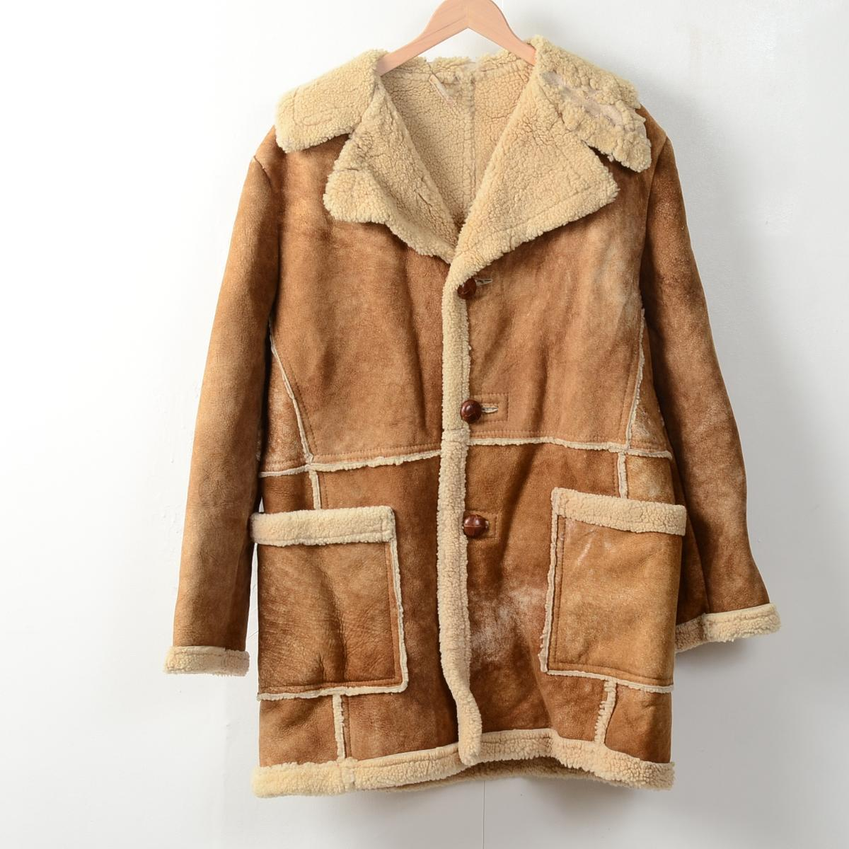 Mens Vintage Sheepskin Coat - Coat Nj