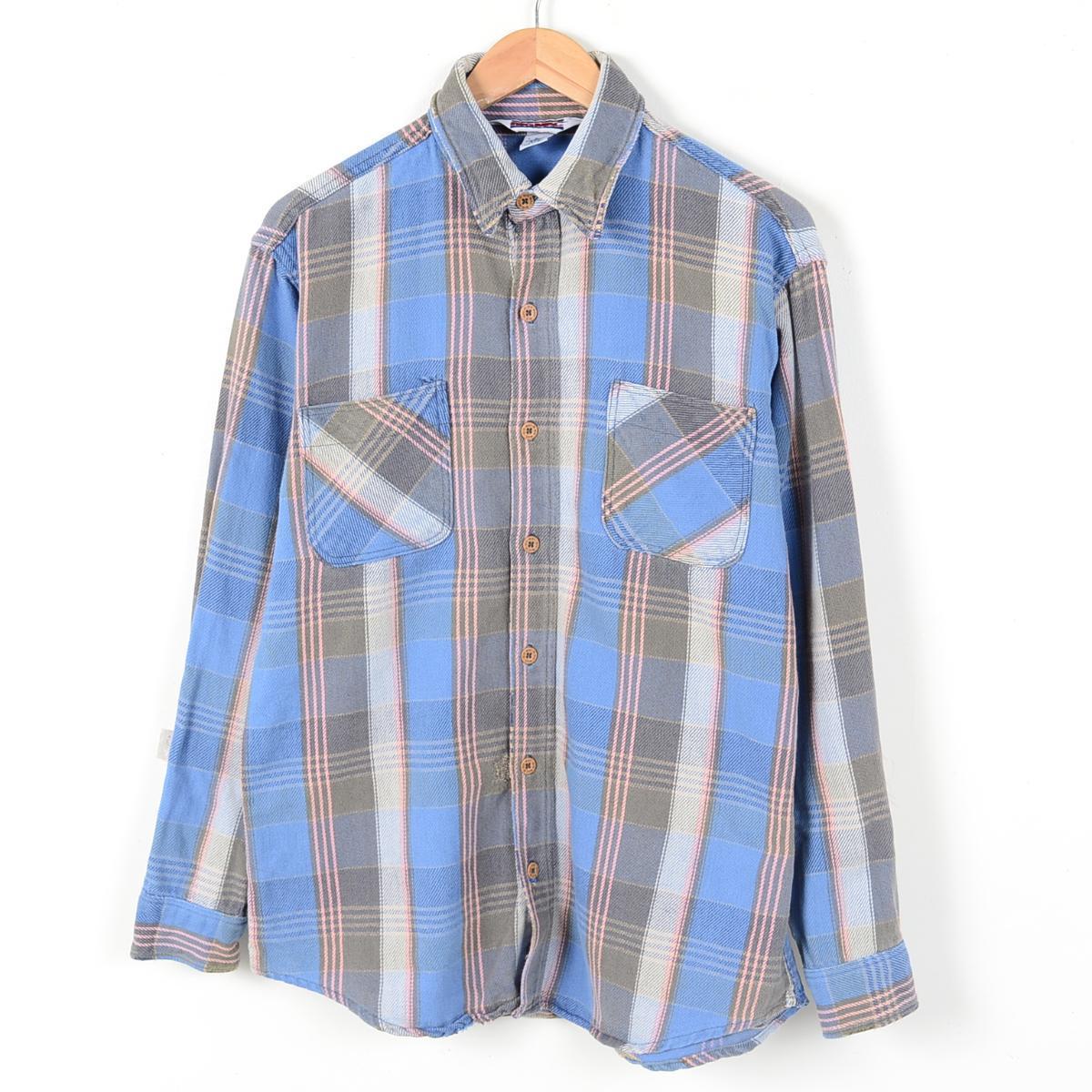 80年代 ビッグマック USA製 長袖ヘビーネルシャツ メンズM ヴィンテージ BIG MAC /wej7162 【古着屋JAM】【中古】【あす楽対応】 150925