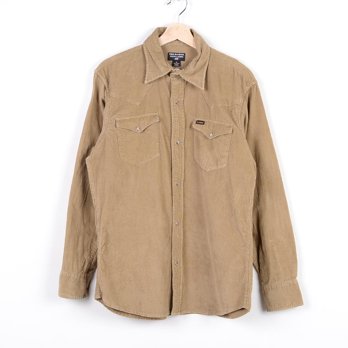 VINTAGE CLOTHING JAM TRADING | Rakuten Global Market: Ralph Lauren POLO JEANS COMPANY long sleeve corduroy Western shirt mens L Ralph Lauren /wep1611 160409
