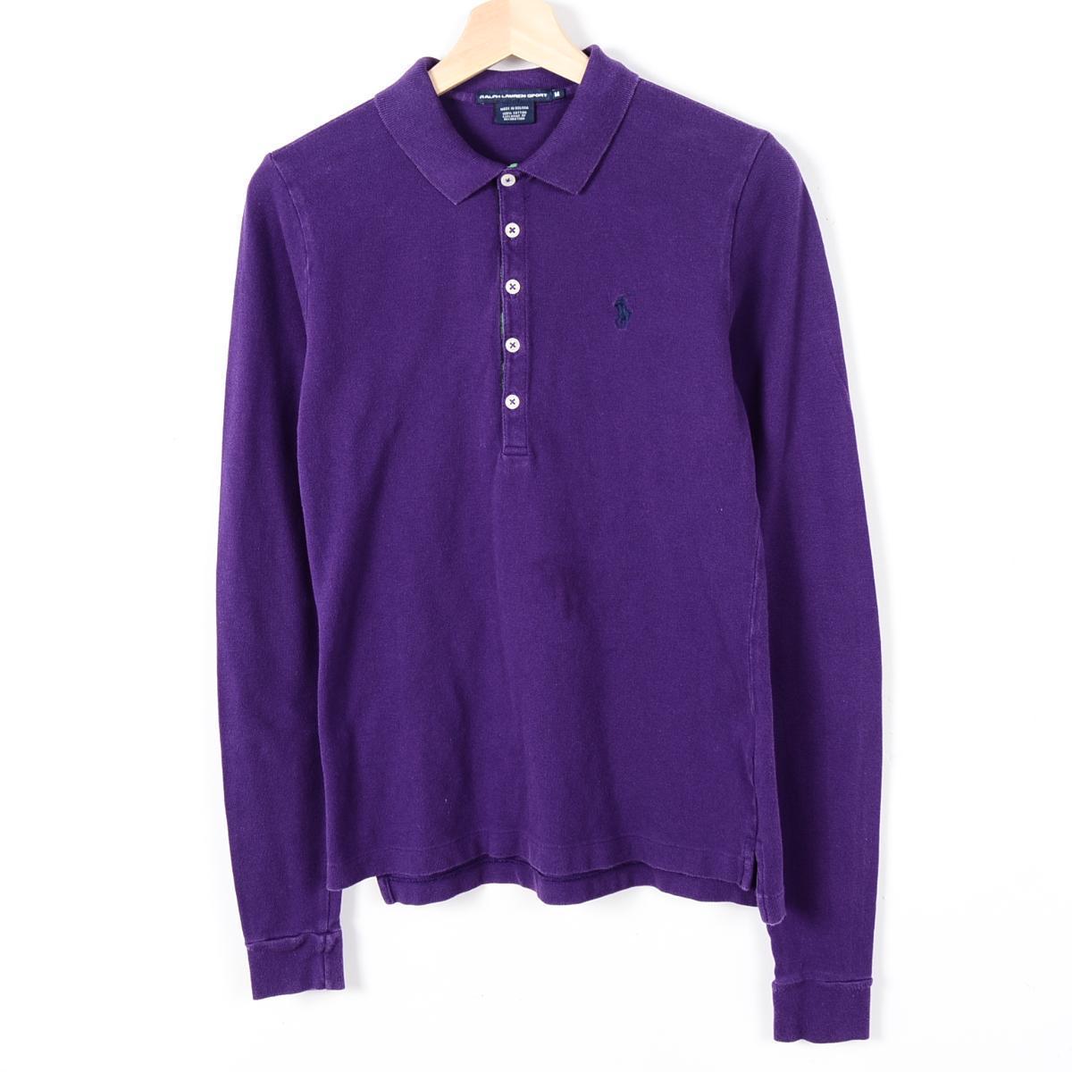 Ralph Lauren RALPH LAUREN SPORT long sleeves polo shirt Lady\u0026#39;s L Ralph Lauren /wer0659 160513