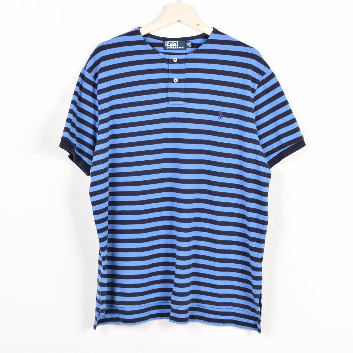 VINTAGE CLOTHING JAM TRADING | Rakuten Global Market: JAM remake Ralph Lauren POLO by Ralph Lauren border pattern short sleeve now color polo shirt mens XXL ...