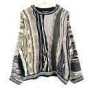 クージー オーストラリア製 総柄 コットンニットセーター M メンズL COOGI /wet8455 【古着屋JAM】【中古】 160901