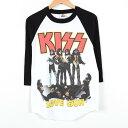KISS キッス ラグラン バンドTシャツ メンズS ALSTYLE /wev2794 【中古】 160925