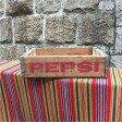 ペプシコーラ アンティーク ウッドボックス 木箱 クレート ヴィンテージ PEPSI COLA /god0047 【中古】 【161002】