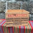 アンティーク ウッドボックス 木箱 クレート ヴィンテージ BALLANTINE'S /god0059 【中古】 【161002】