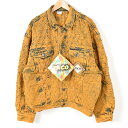 デッドストック DEADSTOCK ダメージ加工 カラーデニムジャケット Gジャン メンズXL PACO /wew6151 【中古】 【161120】