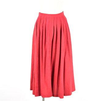 麂皮絨桃皮絨面料掖女性 M 復古褲子加上 /wex1021 的裙子