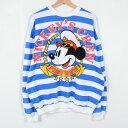 デッドストック DEADSTOCK MICKEY MOUSE ミッキーマウス キャラクタースウェットシャツ トレーナー フリーサイズ MICKEY&CO. /w...
