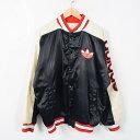 80年代 アディダス RUN DMCモデル ナイロンスタジャン アワードジャケット メンズXL ヴィンテージ adidas /wab0285 【中古】 【170407】